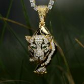 Colgante de Oro del Leopardo Caminante