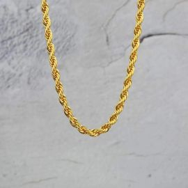 6mm Cadena de Cuerda de Oro
