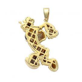 Colgante Marinero Musculoso de Oro con Diamantes