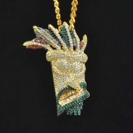 Colgante de Máscara de Hop Aku de Oro con Diamantes