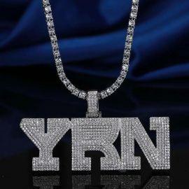 Colgante YRN de Plata con Diamantes