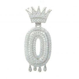 Colgante con Números Goteando de Plata con Diamantes