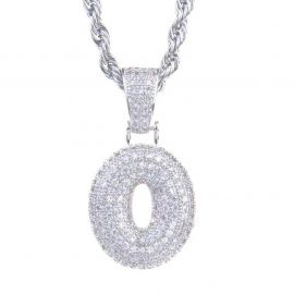 Colgante de Números de Plata con Diamantes