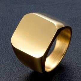 Anillo de Acero Inoxidable con Acabado de Oro de 18K
