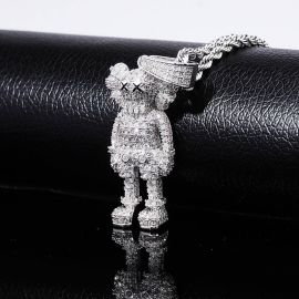 Colgante de Muñeca de Dibujos Animados de Plata con Diamantes
