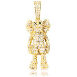 Colgante de Muñeca de Dibujos Animados de Oro con Diamantes