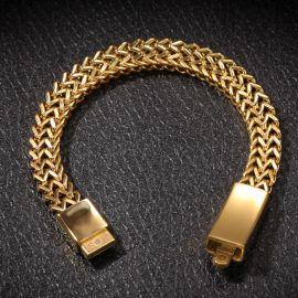 Pulsera de Franco de Doble Fila de Oro de 10mm