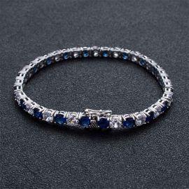 Pulsera con Diamantes de Dos Tonos de 5mm