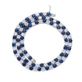 Cadena de tenis de dos tonos con diamantes de 5 mm