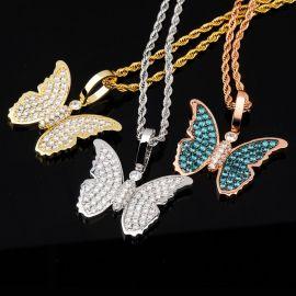 Colgante de Mariposa con Diamantes
