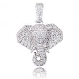 Colgante de Elefante con Diamantes