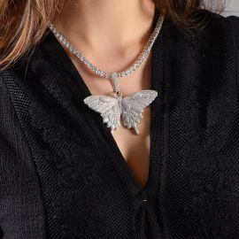 Collar de Mariposa de Micro Pave Butterfly Necklace - Sólo Colgante