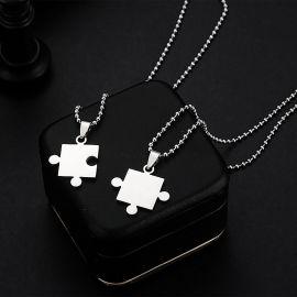 Colgante Puzzle de Acero de Titanio - 2 Piezas