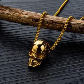 Colgante de Moda de Cráneo de Acero de Titanio