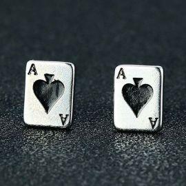 Pendientes del Ace of Spades de Carta