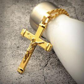 Colgante Cruz de Jesús Crucificado de Oro