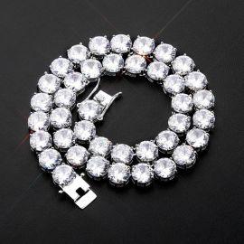 Cadena de Tenis con Diamantes  de Plata de 10mm