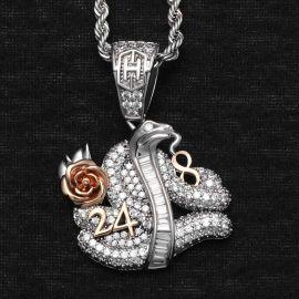 Colgante en Memoria de la Serpiente con Diamantes