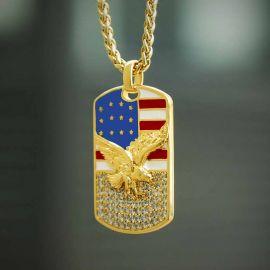 Colgante de la Bandera Americana con Diamantes