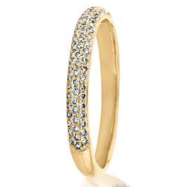 Anillo Clásico de Eternidad con Micro Diamantes de Oro