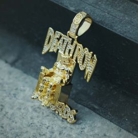 Colgante de Registros de Oro con Diamantes