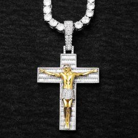 Colgante Cruz de la Crucifixión de Jesús de Plata