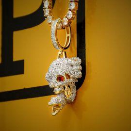 Colgante de Calavera y Serpiente con Diamantes