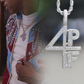 Colgante 4PF de Plata con Diamantes
