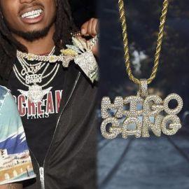 Colgante MIGO GANG de Oro con Diamantes