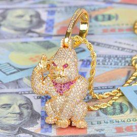 Colgante APE grande de Oro con Diamantes