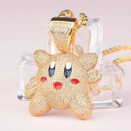 Colgante Kirby de Oro con Diamantes