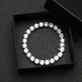 Pulsera de Tenis de 8mm con Diamantes de Plata