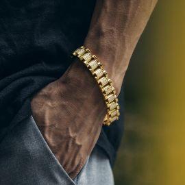 Pulsera de Banda de Reloj de Lujo con Diamantes de 13mm