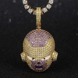 Colgante  Frieza de Oro con Diamantes