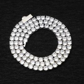 Cadena de tenis de plata de 5 mm