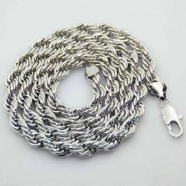10mm Cadena de Cuerda de Plata de 18K