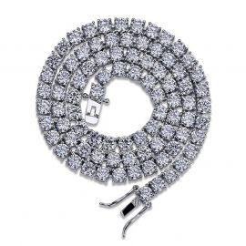 Cadena de tenis de plata de 6 mm