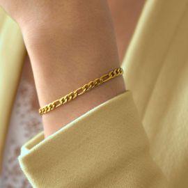 Pulsera Figaro de 5mm de Oro para Mujer