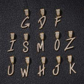 Colgante de 26 Letras con Diamantes