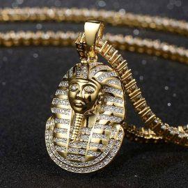 Colgante Faraón de Oro con Diamantes
