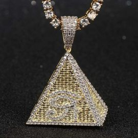 Colgante Ojo de Horus de la Pirámide Egipcia con Diamantes