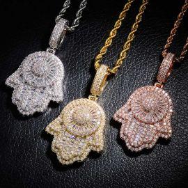 Colgante Mano de Fátima con Diamantes