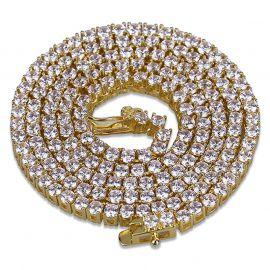 Cadena de tenis de 4 mm de oro