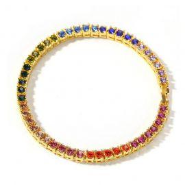 """8"""" Pulsera de Tenis Multicolor de Una Sola Fila de 4mm"""
