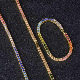 Juego de Cadenas de Tenis Multicolor de 4 mm