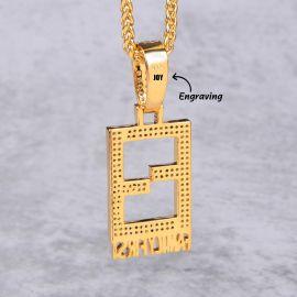 Colgante Family Firstin de Oro con Diamantes