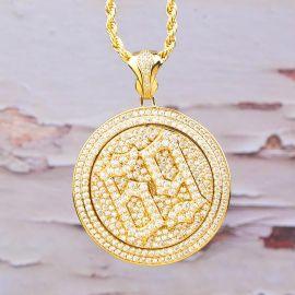 Colgante Giratorio con 69 de Oro con Diamantes