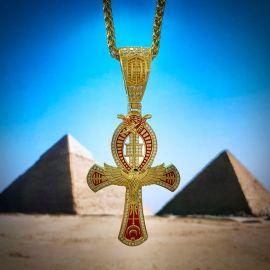Colgante de la Cruz de Ankh del Ojo de las Águilas de Horus