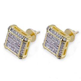 Stud Pendientes con micro pavé de diamantes
