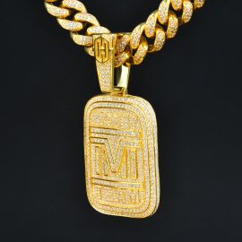 Colgante Money Team de Oro con Diamantes
